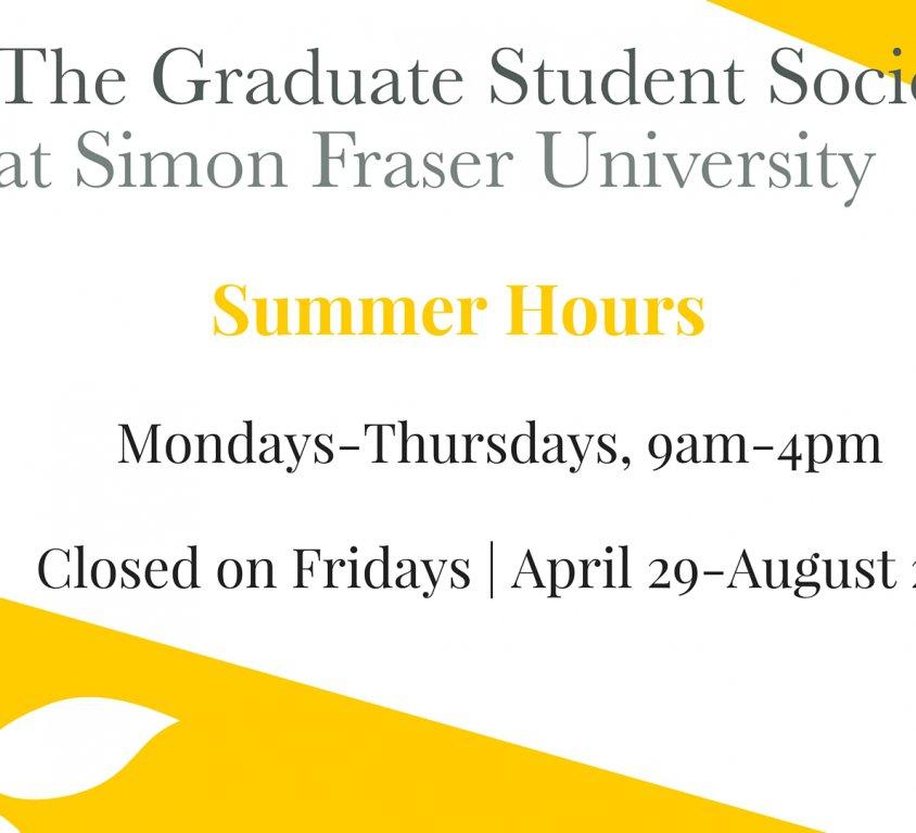 GSS Summer Hours (Social Media)