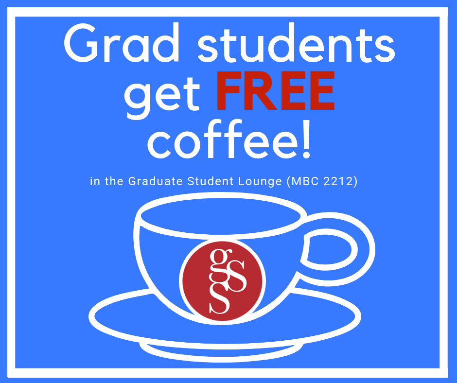 Bring your travel mug (we do not have any paper/styrofoam cups)! The GSS is proud to offer locally roasted, fair-trade organic coffees.