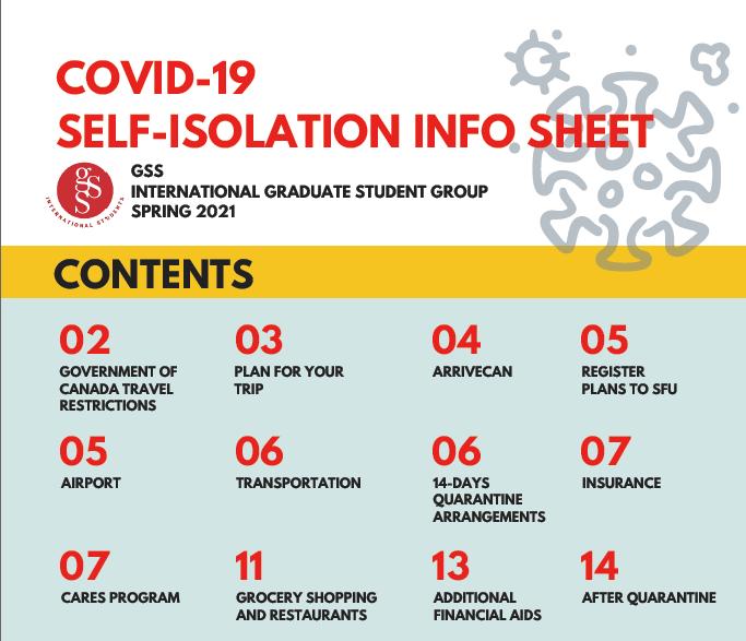 Covid-19 Self-isolation info sheet